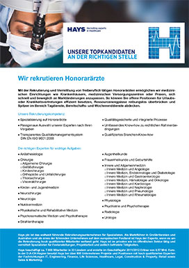 Healthcare Factsheet Honorarärzte