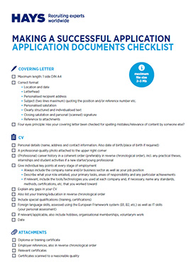 Checklist application documents