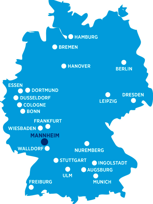 Hays locations in Germany